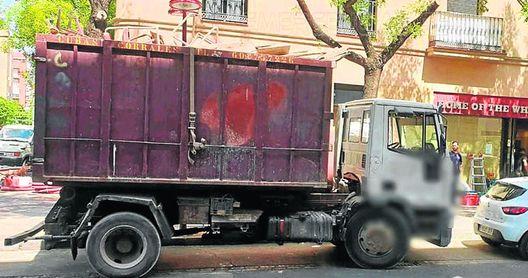 Interceptan un camión por transporte de chatarra