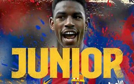 Oficial: Junior, jugador del Barça; el Betis recibe ya 18 millones e irá a por Borja