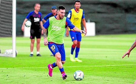 Messi trabajó con el grupo el miércoles y este viernes, en principio, repetirá.