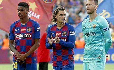 Griezmann jugará en punta en el Barça; en el Betis lo hará Loren.