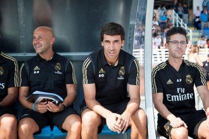 """Raúl """"muy feliz"""" tras su debut oficial al frente del Castilla"""