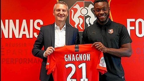 Gnagnon jugará con el '21' en su vuelta al Rennes.