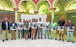 El diputado provincial de Cultura y Ciudadanía, Alejandro Moyano, e Isabel María Romero, alcaldesa de Algámitas, hicieron los honores en la Casa de la Provincia.