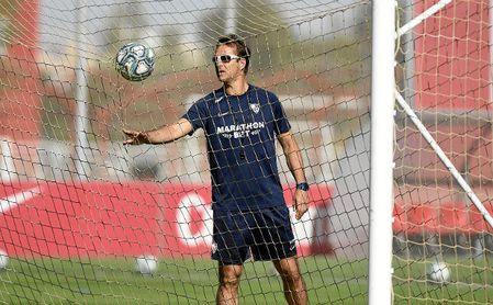 Lopetegui, en un entrenamiento del Sevilla FC.