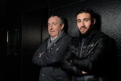 Fekir, con su exagente, Jean-Pierre Bernés.