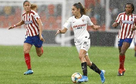 Olga, ante el Atlético.