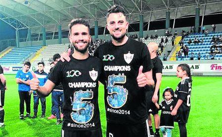 Dani Quintana y Míchel Madera, dos de los españoles del Qarabag