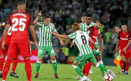 Derbi de la temporada pasada en el Benito VIllamarín.