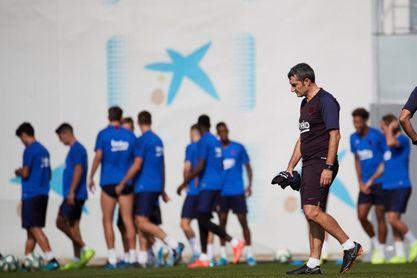 Entrenamiento de recuperación tras golear al Sevilla