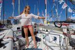 La joven Violette Dorange, a punto de convertirse en la primera mujer en cruzar el Atlántico a vela en solitario