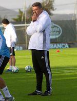 Óscar García dirige su primer entrenamiento como entrenador del Celta