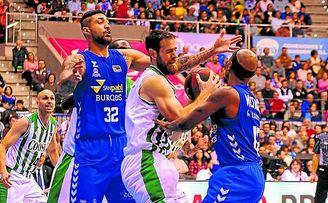 El Betis de baloncesto no pudo sumar la victoria ante el San Pablo Burgos.