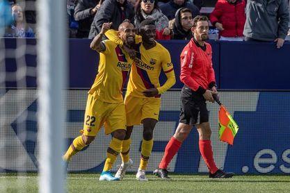 1-2. El balón parado evita un nuevo naufragio del Barcelona en Butarque