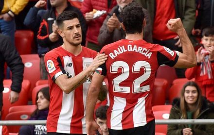 2-0. Raúl García y Yuri fortalecen al Athletic en la zona europea