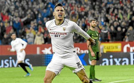 Lucas Ocampos celebrando un gol | Fuente: Estadio Deportivo