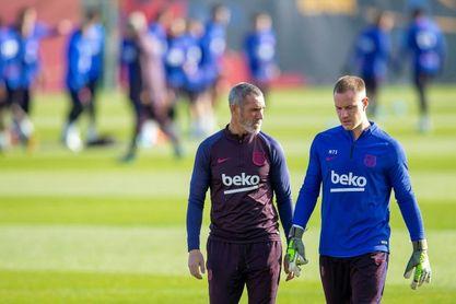 La Liga Barcelona prepara su partido ante Granada con cinco juveniles