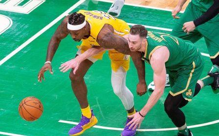 133-107. Kemba gana a James por primera vez y Celtics se exhiben ante Lakers