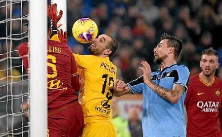 El error de Pau López supuso el 1-1 entre Roma y Lazio.