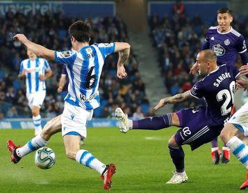 1-0. La Real sufre para ganar al Valladolid y piensa ya en la semifinal de Copa