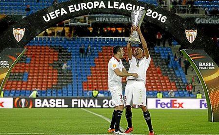 Imagen de la final de la Europa League en la que el Sevilla FC de Unai Emery doblegó al Liverpool FC.