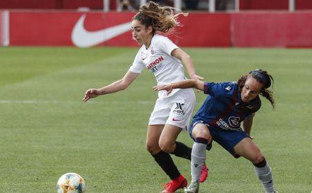La jugadora del Sevilla durante el último encuentro de liga disputado contra el Levante (0-2).
