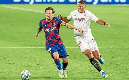 El Sevilla neutralizó a Messi.