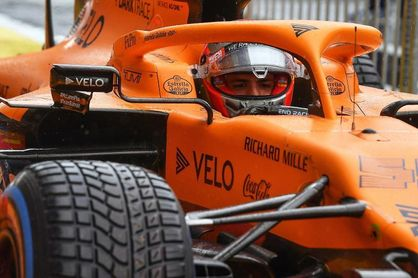 """Sainz: """"Muy feliz, es mi primer tercer puesto en una calificación de F1"""""""