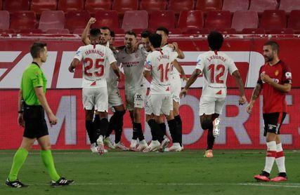 El Sevilla logra su séptimo billete para la Champions en este siglo