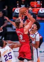 119-112.Booker mantiene invictos a Suns ante diezmados Heat; Rubio,10 rebotes