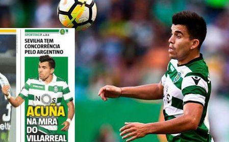 El Villarreal tienta a Acuña y Escudero apuesta por seguir en el Sevilla
