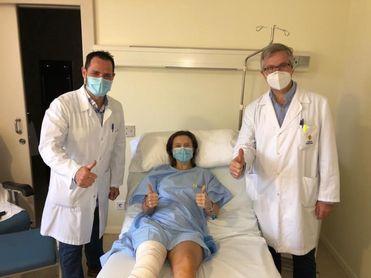Rosario Urban, operada con éxito y cuatro meses de baja