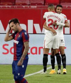 1-0. En-Nesyri se redime y quiebra el buen trabajo del Levante en el añadido