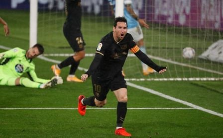 0-3: Un Barça con diez rompe el maleficio de Balaídos y sigue intratable