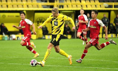 Doblete de Haaland en goleda del Dortmund, el Eintracht es nuevo líder
