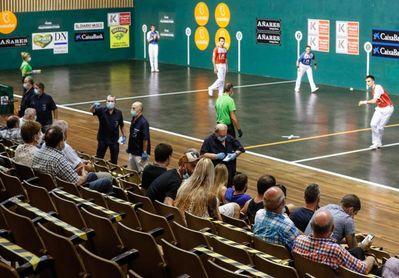 El Tribunal Superior vasco ordena suspender la final del parejas de pelota a mano