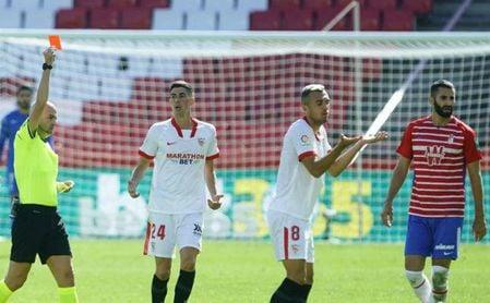 Granada 1-0 Sevilla F.C.: Hinca la rodilla ocho meses después, en un serio aviso para el debut en Champions