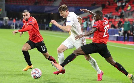 Los rivales del Sevilla: El Krasnodar evita un debut triunfal de Camavinga y el Rennes (1-1).