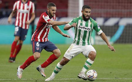 Fekir, frente al Atlético.