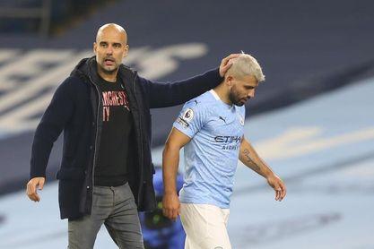 El Manchester City perderá a Agüero durante un mes