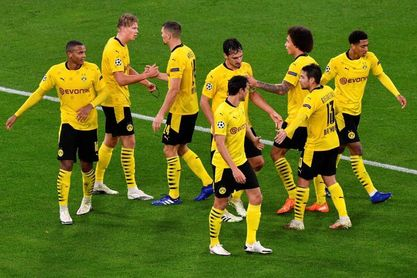 2-0. Sancho y Haaland le dan una trabajada victoria al Dortmund
