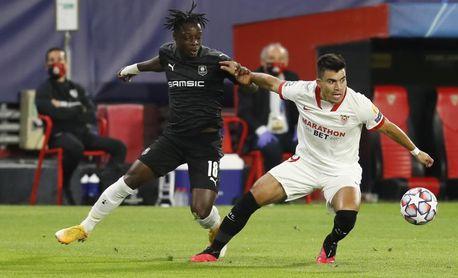 1-0. El Sevilla somete al Rennes, que pudo llevarse una goleada
