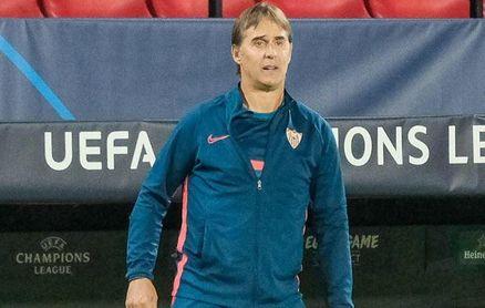 Julen Lopetegui, entrenador del Sevilla F.C., en el partido de Champions ante el Rennes.