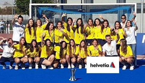 Seguros Helvetia apoya el fomento del hockey y de los equipos integrados en la Federación de Hockey.