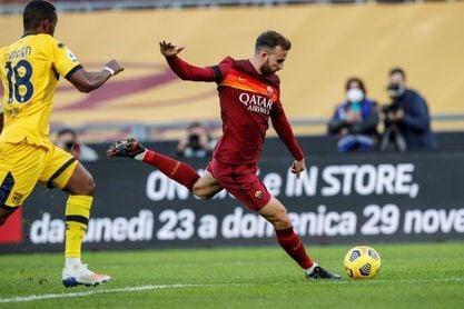 Mayoral celebra su primer gol en la Serie A y el Roma sigue creciendo
