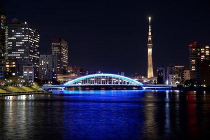 Tokio marca 100 días hasta el relevo de la antorcha olímpica con iluminación