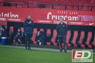 Lopetegui reconoció tras el partido que el Sevilla FC se echó muy atrás.
