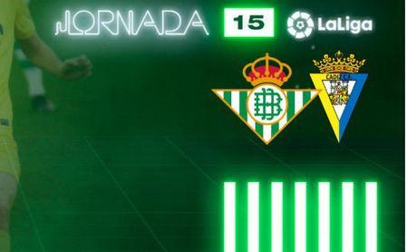 Horario y dónde ver el Betis-Cádiz de Liga por televisión y 'on-line'