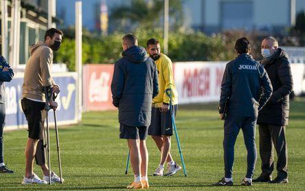 Fernando Roig ha estado presente en el entrenamiento.