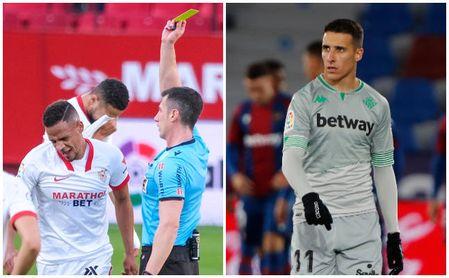 El Sevilla se queda sin Fernando, por sanción, y el Betis pierde al lesionado Tello
