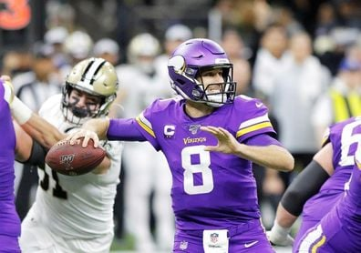 35-37. Cousins dirige la victoria de los Vikings